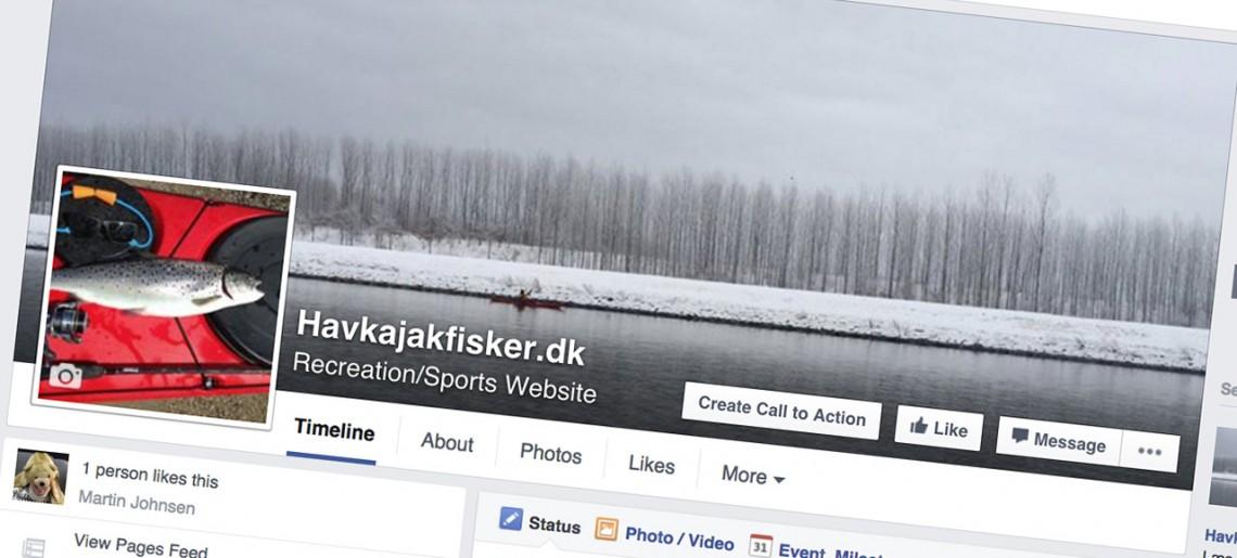 Havkajakfisker er også på Facebook